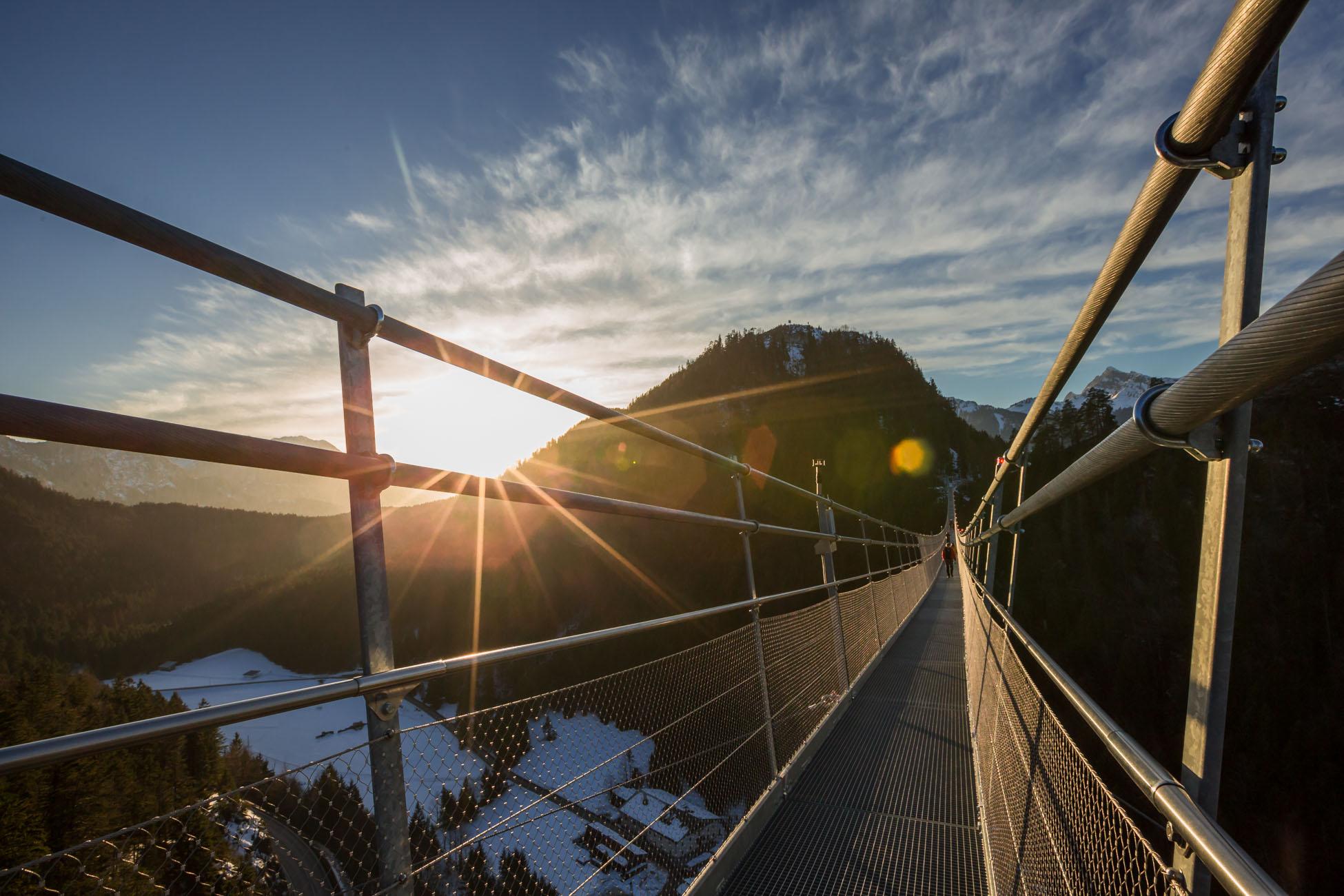 Highline179 Hängebrücke in Reutte
