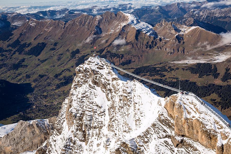 Glacier 3000 Brücke