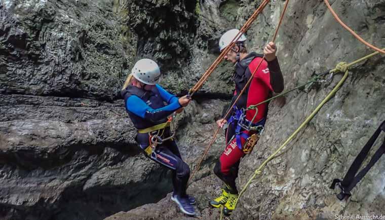 Canyoning in Ruhpolding zum Intersport Gipfeltreffen 7