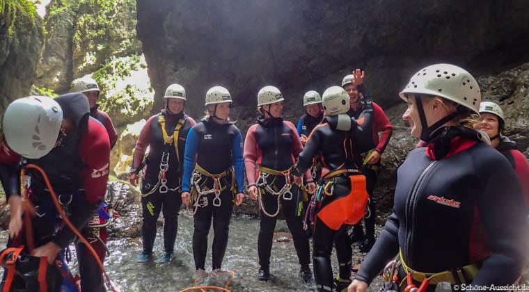 Canyoning in Ruhpolding zum Intersport Gipfeltreffen 11