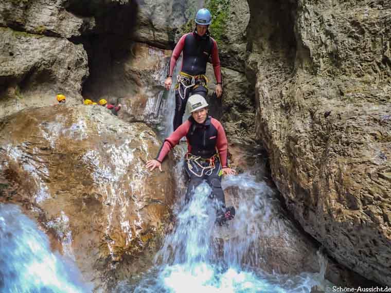 Canyoning in Ruhpolding zum Intersport Gipfeltreffen 14