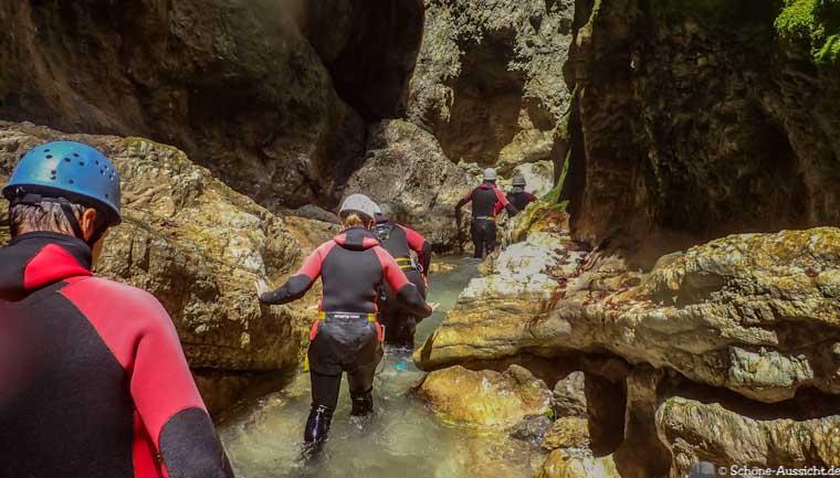 Canyoning in Ruhpolding zum Intersport Gipfeltreffen 13