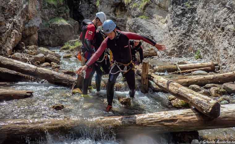 Canyoning in Ruhpolding zum Intersport Gipfeltreffen 12