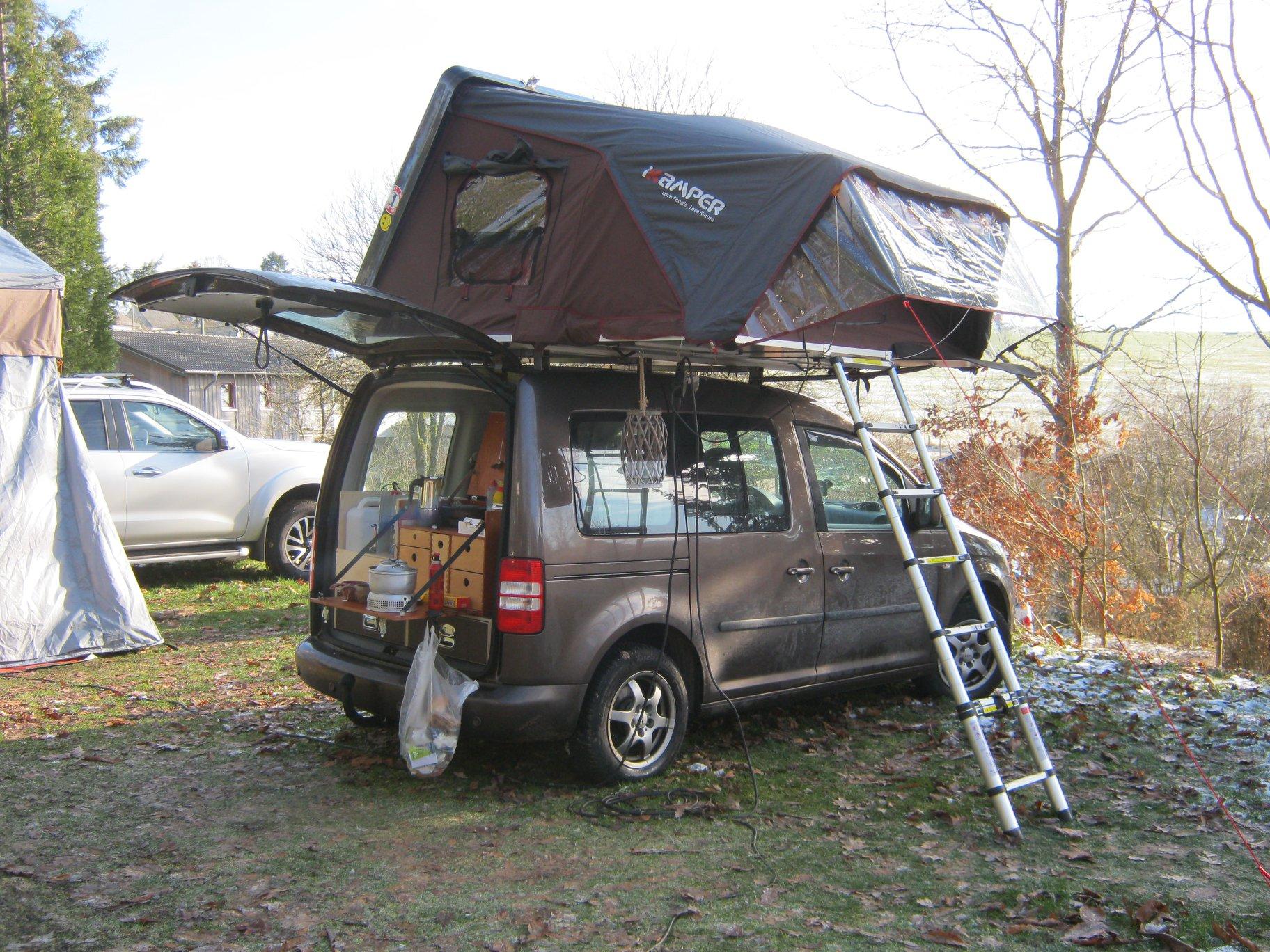 Dachzelt Winter Camp