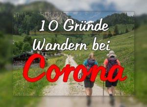 corona und wandern